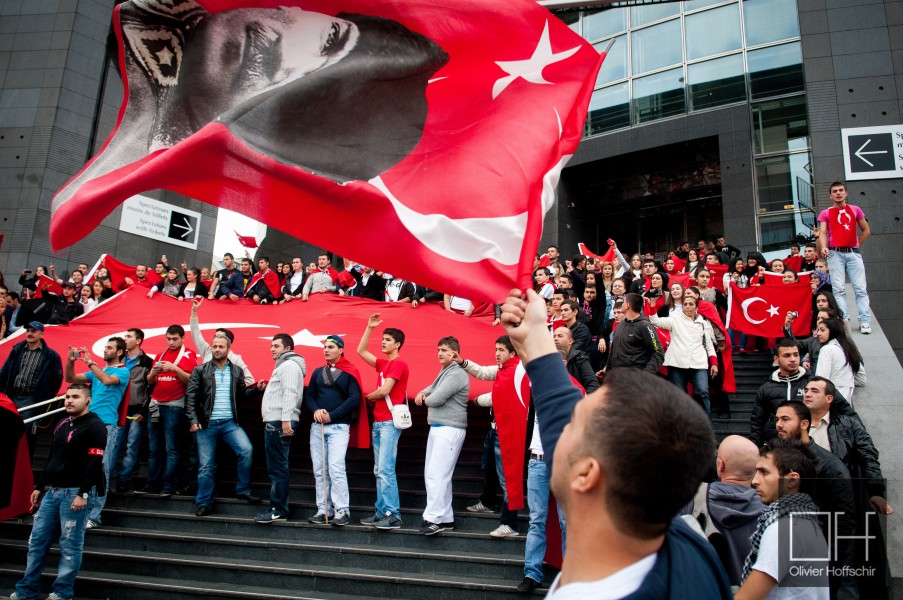 Türkish against PKK demonstration