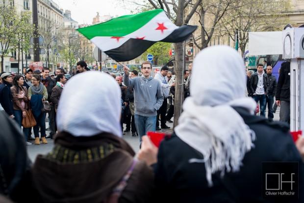 Manifestation Syrienne contre le régime de Bachar El Assad